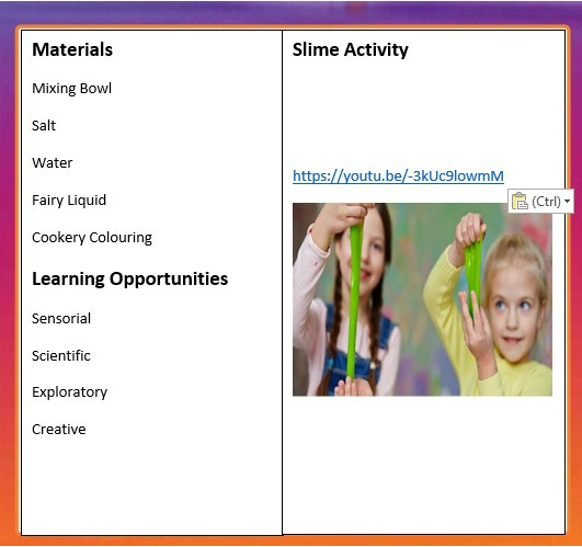NCN Slime Activity