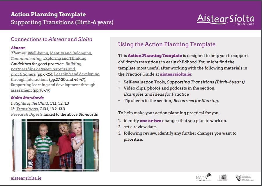 Action Plan Transisitions