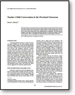 TeacherChildConversationinthePreschoolClassroom