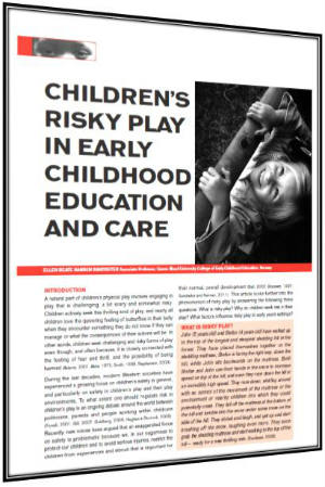 Early childhood education journal articles national childhood network childlinks risky play publicscrutiny Gallery