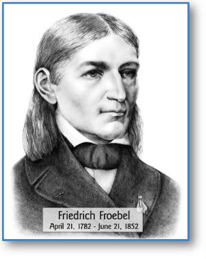 friedrich wilhelm froebel essay The philosophers of his times, johann gottlieb fichte (1762-1814) and friedrich wilhelm schelling (1775-1854), also influenced froebel's educational ideas he placed an emphasis on self-activity, physical training, and pleasant surroundings in the development of children his most important work was the book he wrote in 1826.